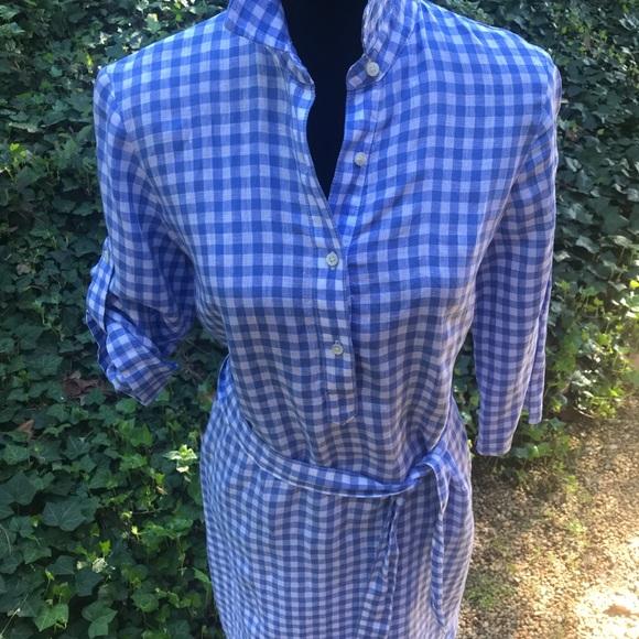 J. Mclaughlin Blue/White Shirt Dress